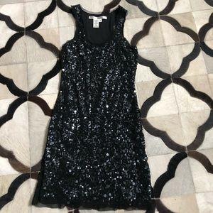 Black sequin sleeveless dress by Max Studio, XS